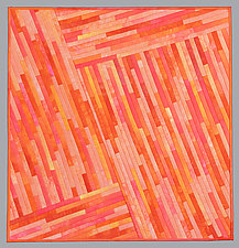 Small Luminosity Orange by Judith Larzelere (Fiber Wall Hanging)