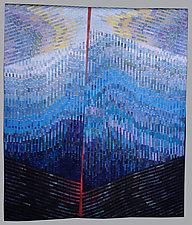 Tsunami by Judith Larzelere (Fiber Wall Hanging)