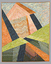 Tumbling Towns by Judith Larzelere (Fiber Wall Hanging)
