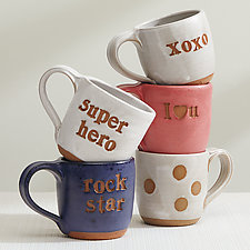 Endearments Mugs by Louise Bilodeau (Ceramic Mug)
