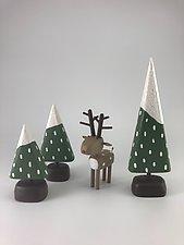 Winter Scene by Hilary Pfeifer (Wood Sculpture)
