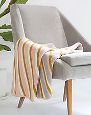 Sliding Stripes Eco Throw by Karrie Dean (Cotton & Acrylic Blanket)