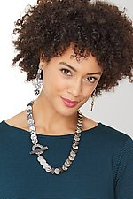 Black and Ivory D Necklace by Louise Fischer Cozzi (Polymer Necklace)