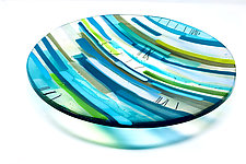 Amidst Silence by Sarinda Jones (Art Glass Platter)