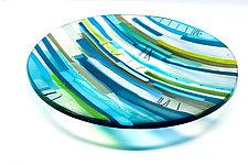 Amidst Silence by Sarinda Jones (Art Glass Platter)