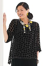 Ophelia Dot Velvet Top by Lisa Bayne  (Velvet Top)