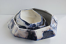 Nebula Stone Bowl by Lauren Herzak-Bauman (Ceramic Bowl)