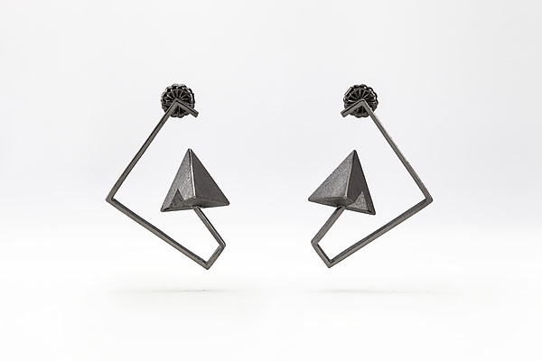 Half and Half Geometrical Earrings