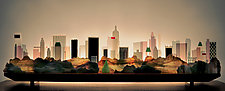 Central Park South, January by Bernie Huebner and Lucie Boucher (Art Glass Sculpture)