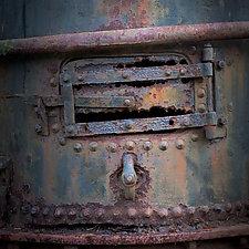 Vintage Steam Winch Detail Number 7 by Steven Keller (Color Photograph)