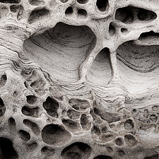 Beach Sandstone Formation number 2 by Steven Keller (Color Photograph)