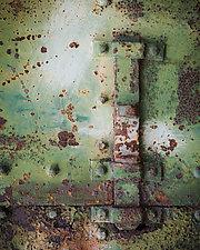 Bunker Door Rust Number 2 by Steven Keller (Color Photograph)
