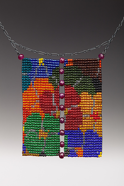 Loom Work Necklace with Rubies: California Dream