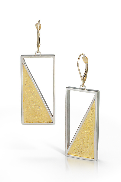 Captured Triangle Earring