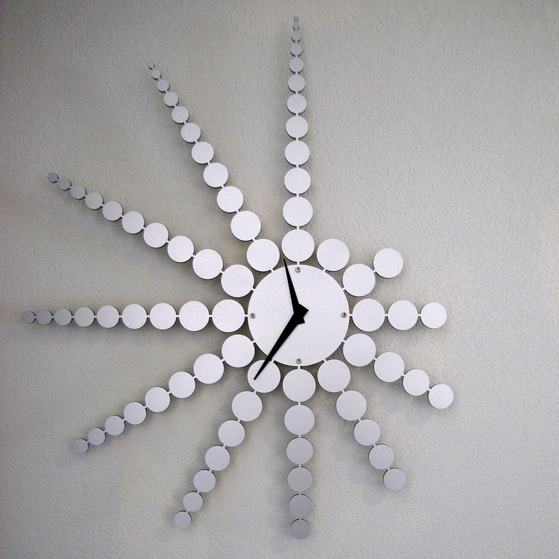 Fractal Wall Clock By John Nalevanko (Metal Clock)