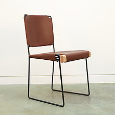The Putney Dining Chair by Nava Studio (Leather Chair)