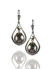Paradise Earrings by Veronica Eckert (Gold, Stone & Pearl Earrings)