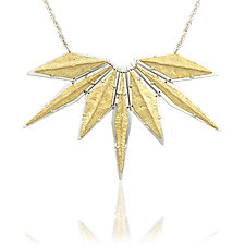 Rocky Ridge Burst Necklace by Amanda Hagerman (Gold & Silver Necklace)