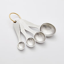 Pewter Measuring Spoons by Beehive Handmade (Metal Spoons)