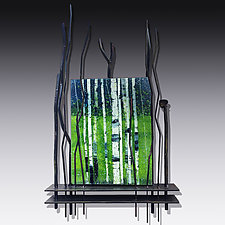 Springtime Bliss by Leslie W. Friedman (Art Glass Wall Sculpture)