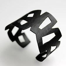 Graphic Cuff #2 by Jennifer Bauser (Copper Bracelet)