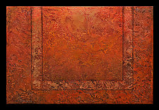 Radiant Textures Series 07 by Wolfgang Gersch (Mixed-Media Wall Hanging)