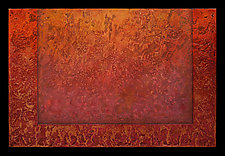 Radiant Textures Series 05 by Wolfgang Gersch (Mixed-Media Wall Hanging)