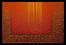 Radiant Textures Series 12 by Wolfgang Gersch (Mixed-Media Painting & Giclee Print on Aluminum)