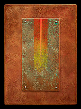 Golden Rays 08 by Wolfgang Gersch (Mixed-Media Wall Hanging)