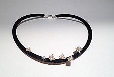 Pearl Fantasy by Dagmara Costello (Silver, Pearl & Rubber Necklace)