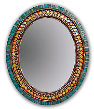 Butterfly Mirror by Angie Heinrich (Mosaic Mirror)