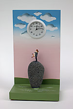 Pinnacle of Love in the Country by Pascale Judet (Painted Clock)