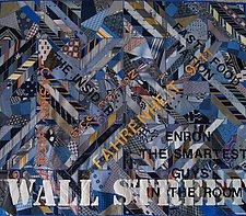 Wall Street by Sun Smith-Foret (Fiber Wall Hanging)