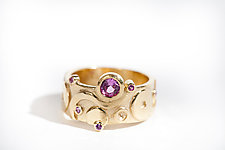 Gold and Sapphire Deco Band by Shauna Burke (Gold & Sapphire Ring)