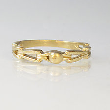 Open Weave Gold Ring by Susan Crow (Gold Ring)
