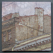 Piter's Rooftops 1 by Natalya Aikens (Fiber Wall Hanging)