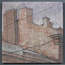 Piter's Rooftops 2 by Natalya Aikens (Fiber Wall Hanging)