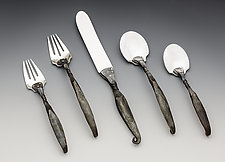Twist Place Setting by Nicole and Harry Hansen (Metal Flatware)