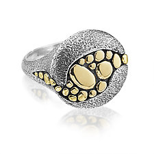 Riverbed Ring in Mixed Metals by Rona Fisher (Gold & Silver Ring)