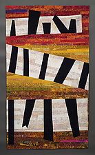 Black Shapes 1 by Karen Schulz (Fiber Wall Hanging)