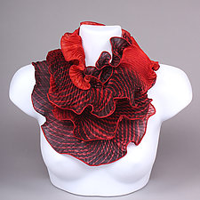 Infinity Scarf in Reds by Min Chiu  and Sharon Wang (Silk Scarf)