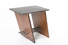 Locksaw Side Table by Wes Walsworth (Wood & Steel Side Table)
