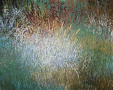 Under the Marsh Willows by Jan Jahnke (Mixed-Media Painting)