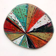 Layered Disk #8 by Barbara Gilhooly (Wood Wall Sculpture)