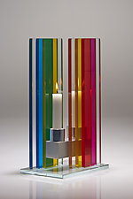 Unified Light Candle Holder by Sidney Hutter (Art Glass Candleholders)