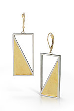 Captured Triangle Earring by Nora Fischer (Gold & Silver Earrings)