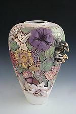 Birds in a Nest by John Davis (Ceramic Vessel)