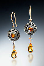 Honey Drop by Robin  Sulkes (Gold, Silver & Stone Earrings)