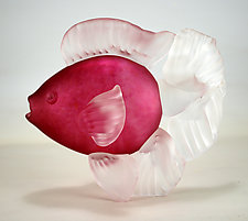 Rose Fish by Andrew Shea (Art Glass Sculpture)