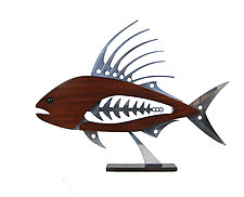 Roosterfish by Mark Gottschalk (Wood & Metal Sculpture)